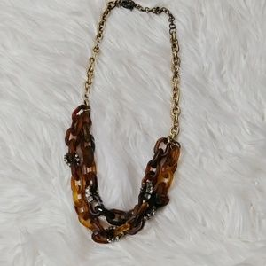 J. Crew tortoise shell link necklace